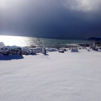 snow in Fennell's Bay